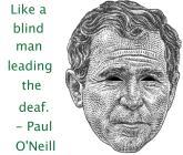Bush a drug sucker