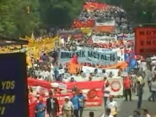 Tens of thousands of protestors filled the streets in Istanbul